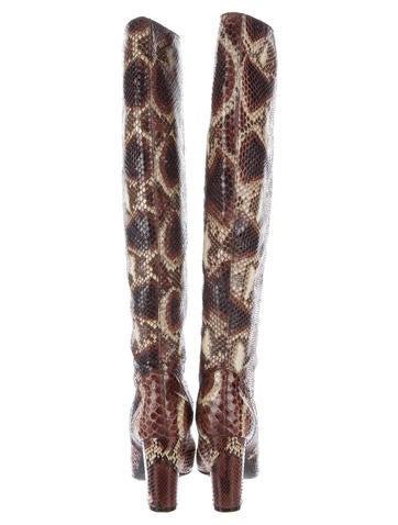 Python Knee-High Boots