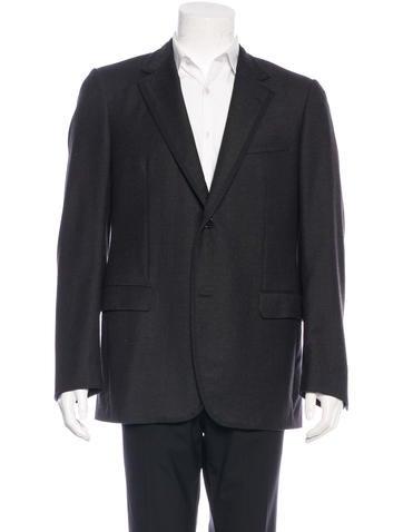 Lanvin Wool Rib Trim Blazer None