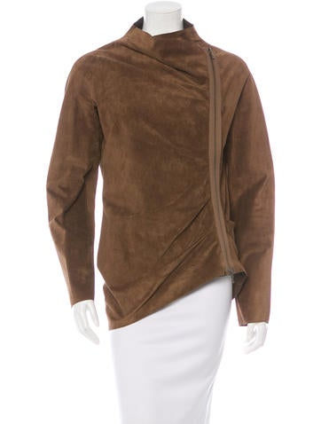 Lanvin Suede Fitted Jacket