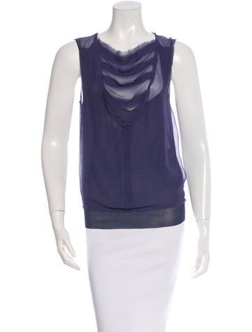 Lanvin Sleeveless Silk Top None