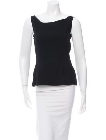 Lanvin Wool Zip-Accented Top w/ Tags None