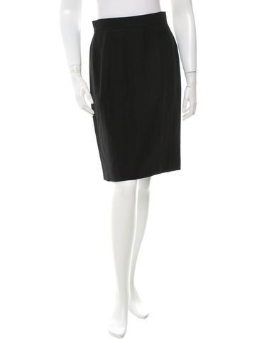 Wool Knee-Length Skirt