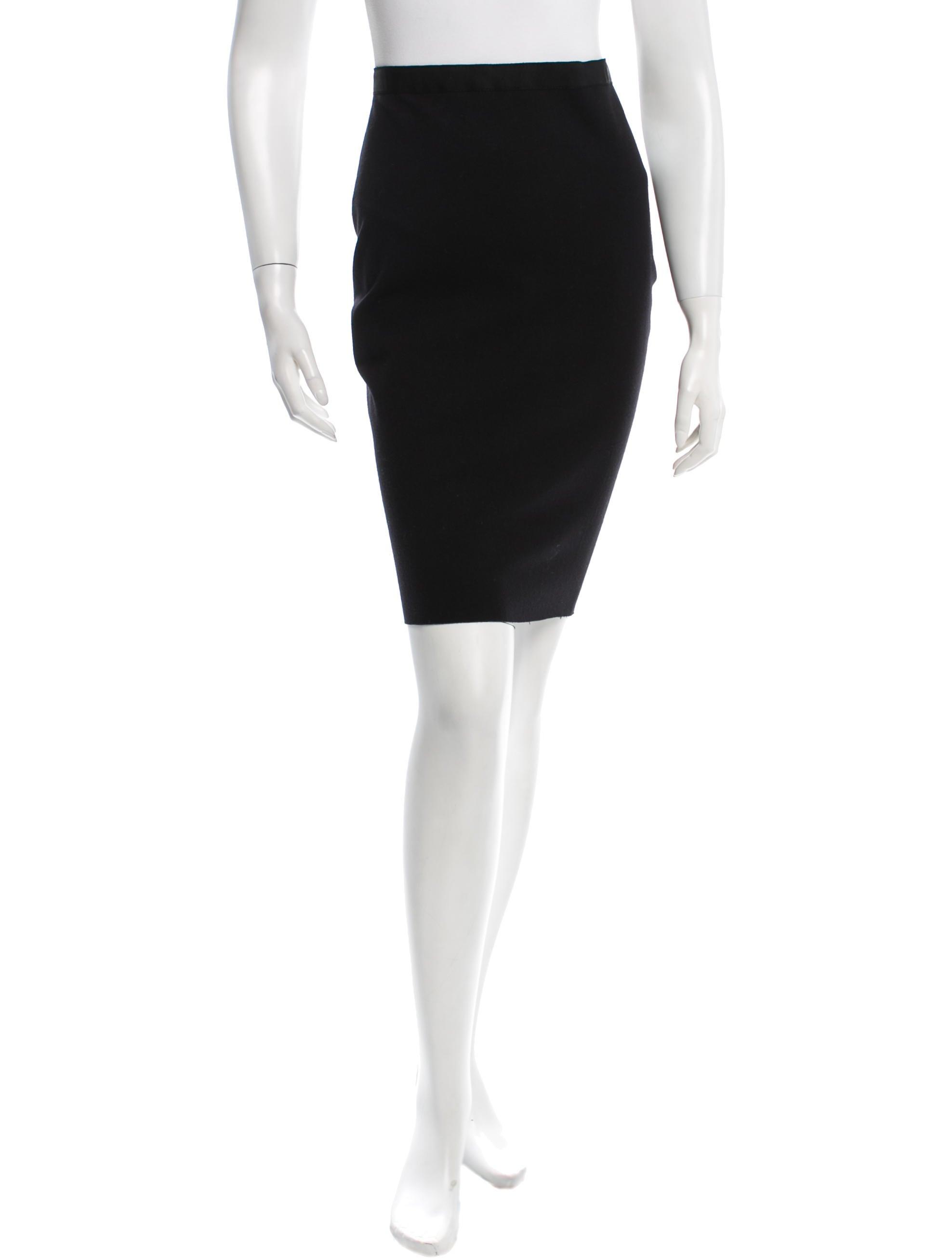 lanvin knee length pencil skirt clothing lan47484