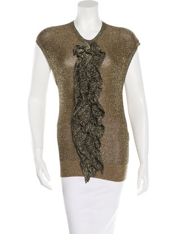 Lanvin Metallic Sleeveless Top None