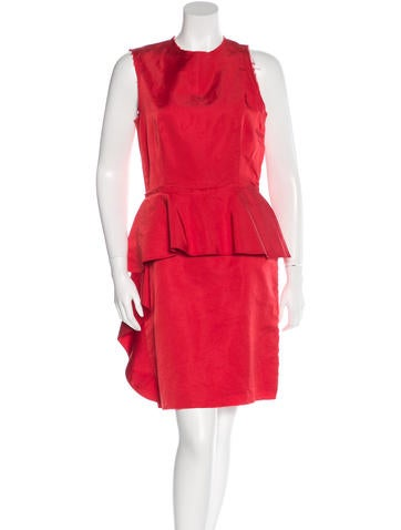 Lanvin Silk Peplum Dress