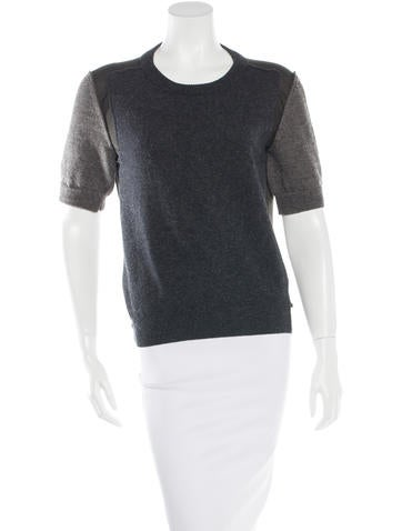 Lanvin Short Sleeve Paneled Top None