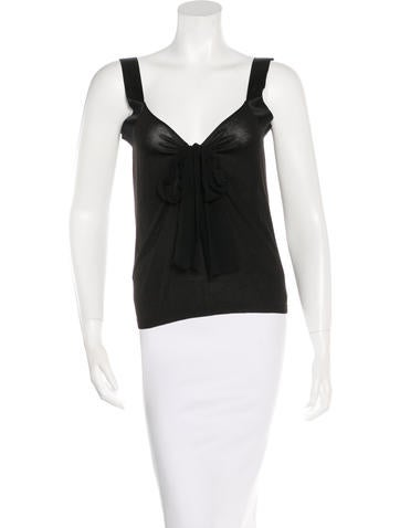 Lanvin Bow-Accented Silk Top