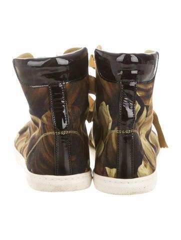 Printed High-Top Sneakers