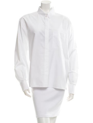 Lanvin Haut Button-Up Top None
