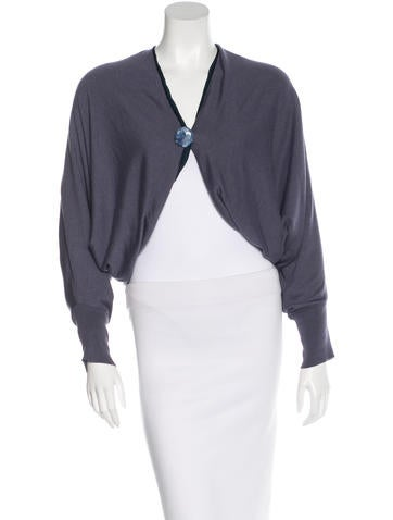 Lanvin Embellished Cocoon Cardigan None