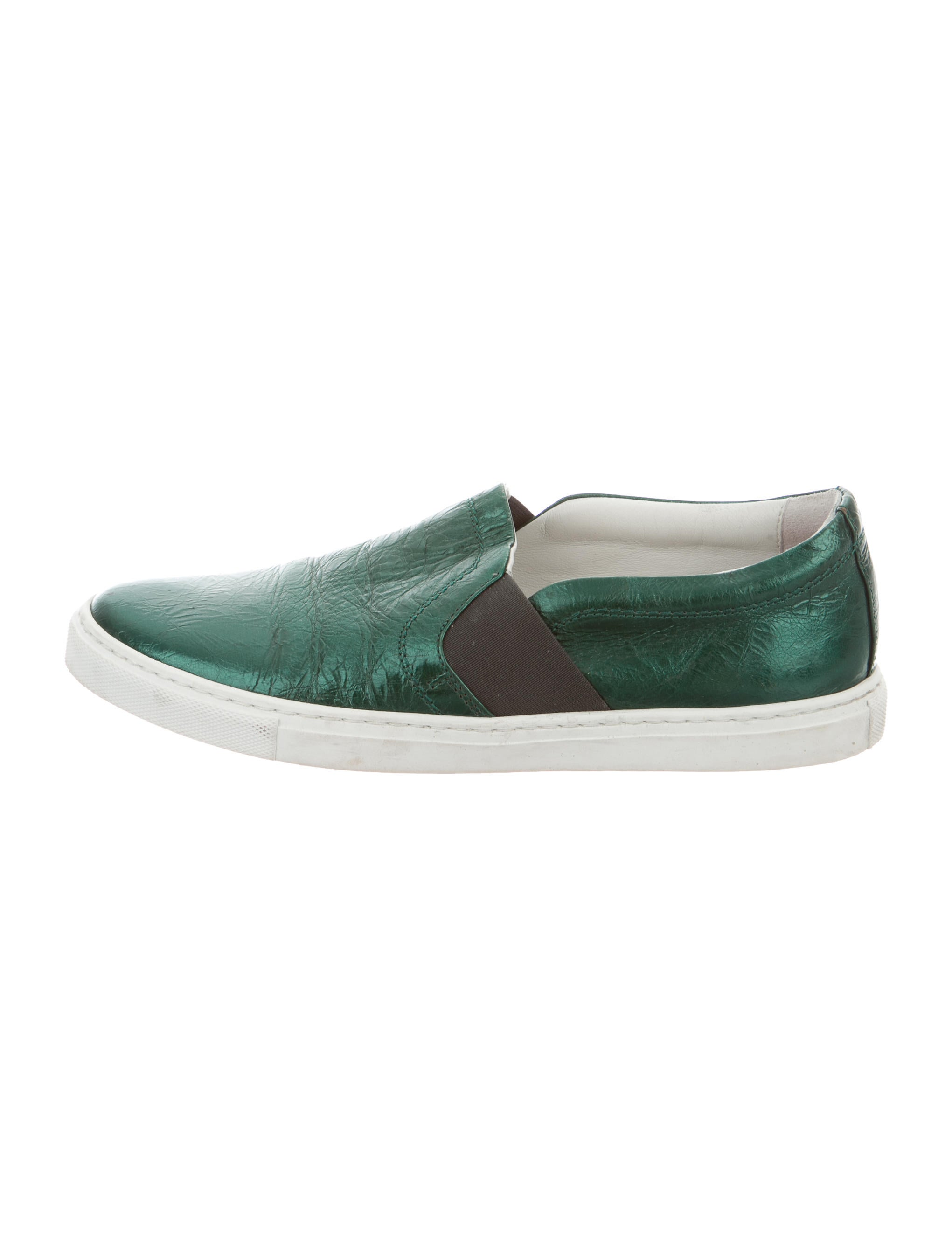 lanvin metallic slip on sneakers shoes lan48441 the