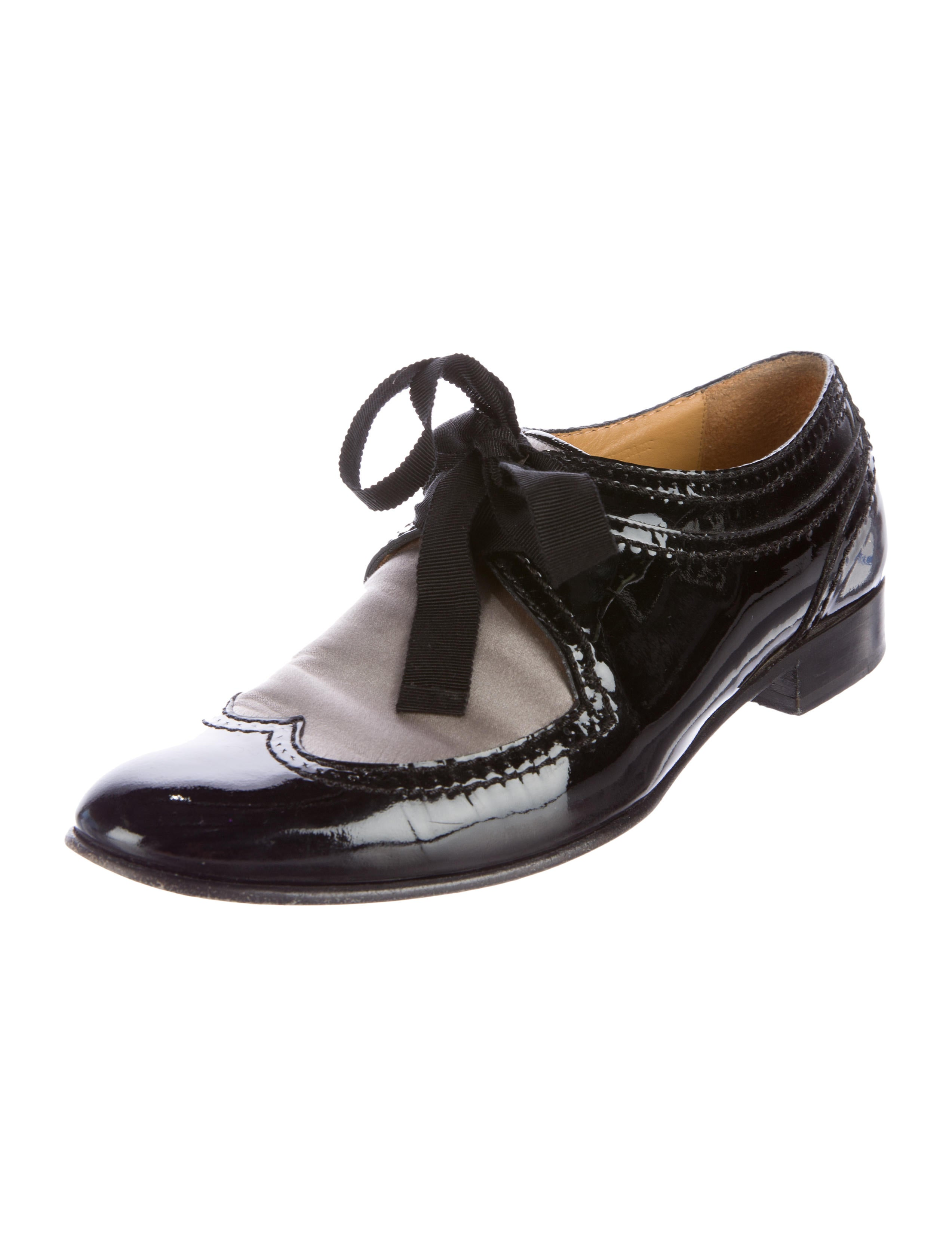 lanvin patent shoes lan48639 the realreal