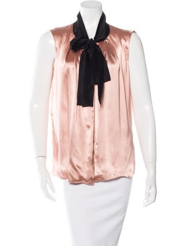 Lanvin Sleeveless Tie Top None