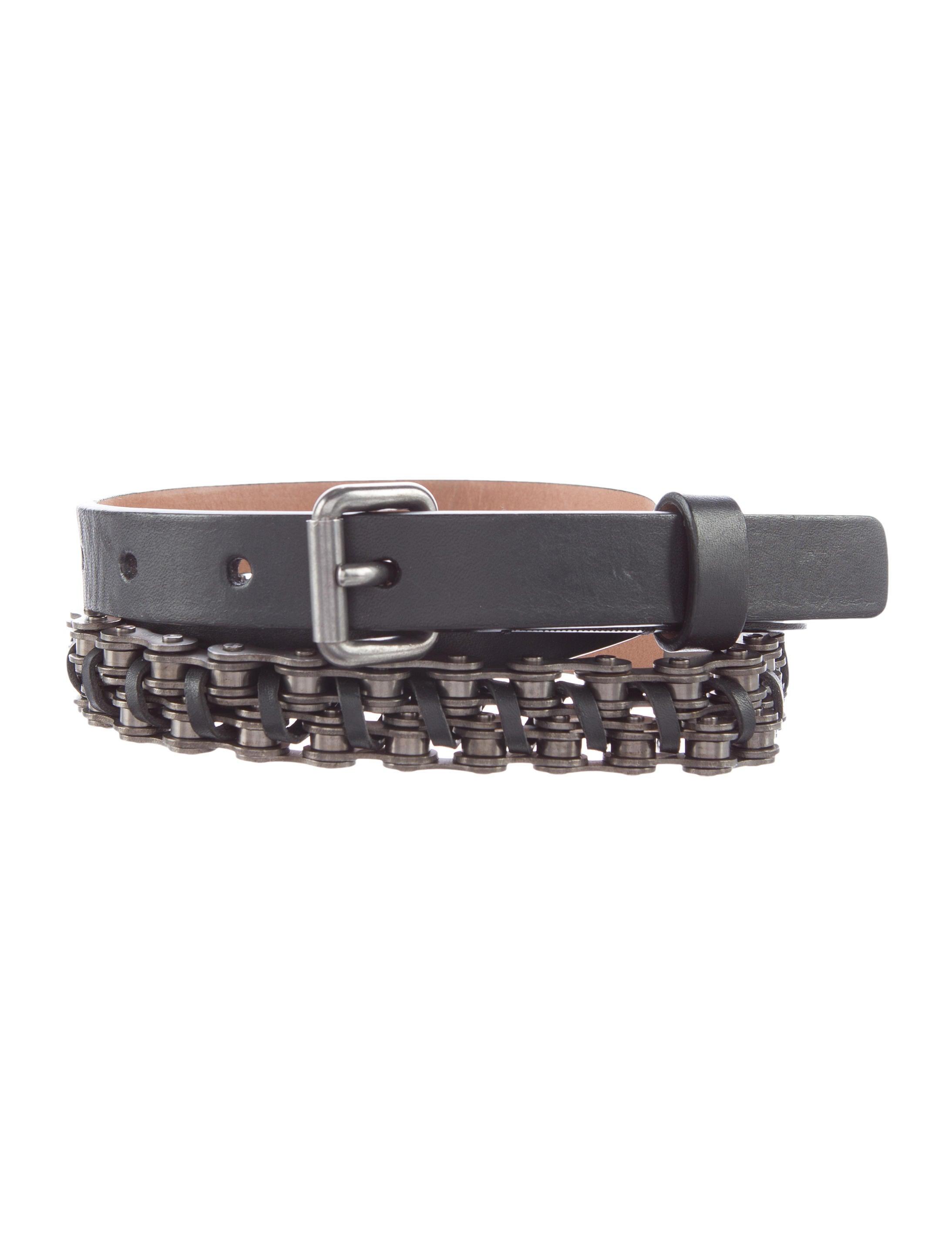 lanvin leather chain link belt accessories lan48972