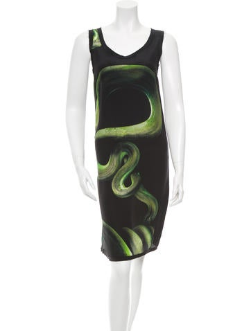 Sleeveless Snake Print Dress