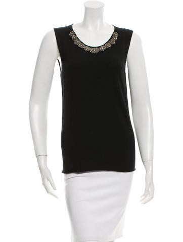 Lanvin Wool Embellished Top None
