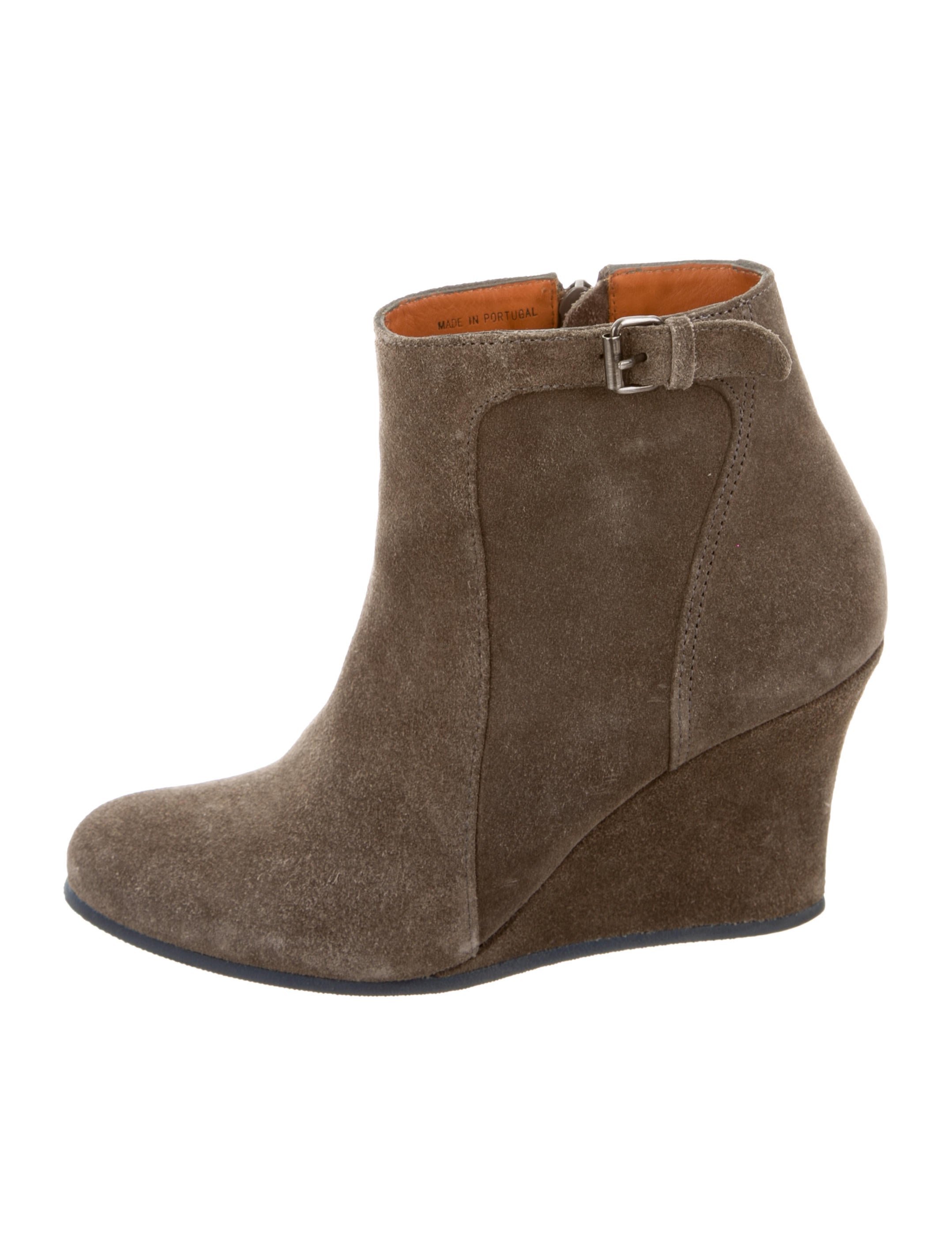 Shop suede wedge bootie at Neiman Marcus, where you will find free shipping on the latest in fashion from top designers.