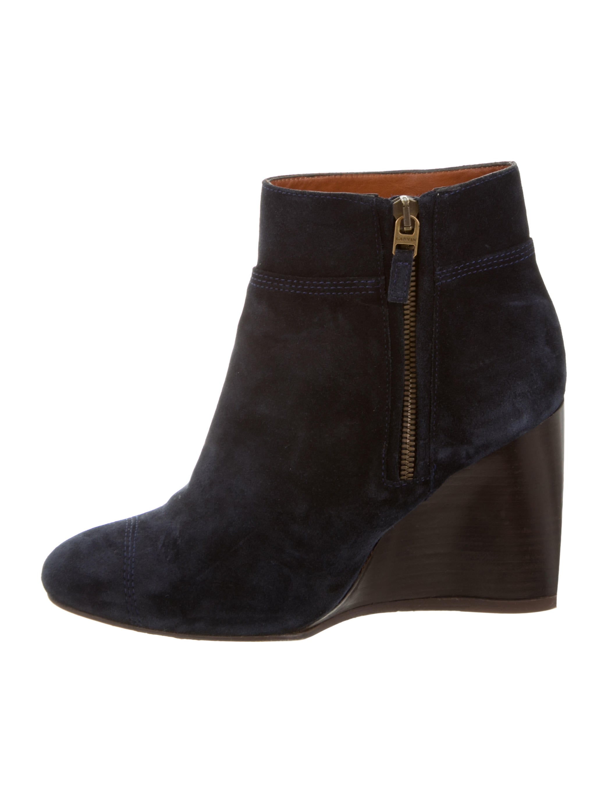 lanvin suede wedge ankle boots shoes lan49399 the
