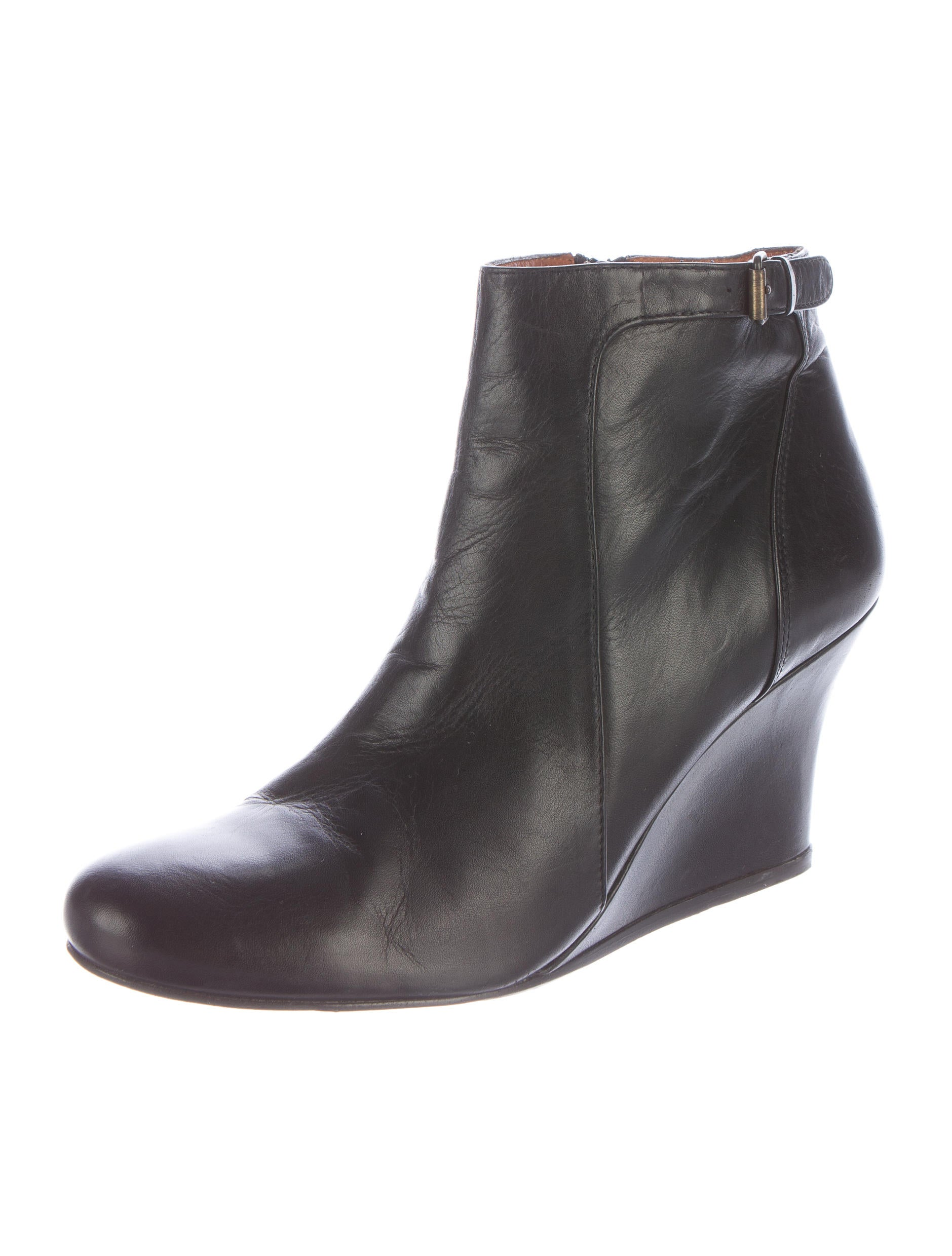lanvin leather wedge ankle boots shoes lan49560 the