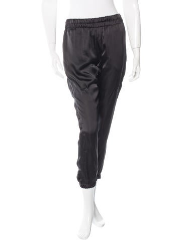 Silk Cropped Jogger