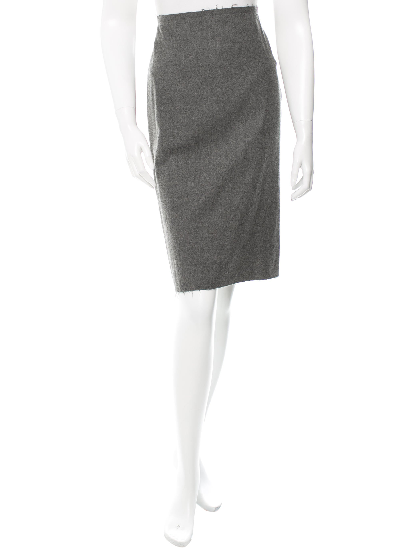 lanvin wool pencil skirt clothing lan49991 the realreal