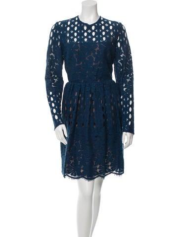 Lanvin Lace Knee-Length Dress w/ Tags