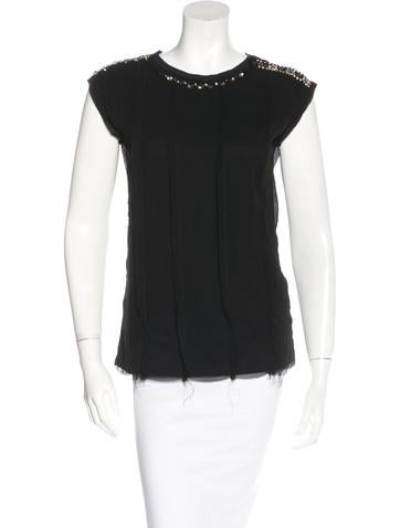 Lanvin Sleeveless Embellished Top w/ Tags None