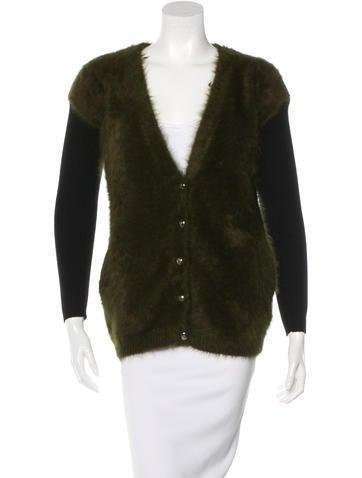 Lanvin Mink Fur Button-Up Cardigan None