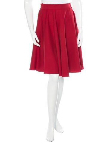 Lanvin Flounce Wool Skirt