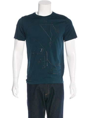 Lanvin Abstract Graphic T-Shirt None