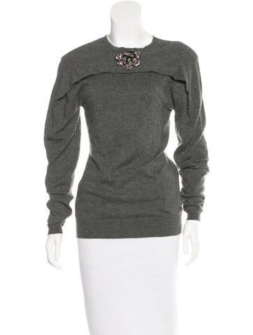 Lanvin Embellished Cashmere Sweater None