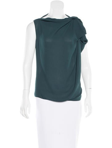 Lanvin Draped Sleeveless Top None