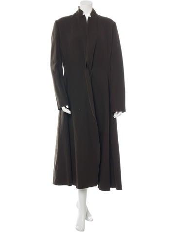 Lanvin Notch Lapel Duster Coat None