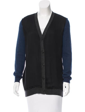 Lanvin Silk & Wool-Blend Cardigan None