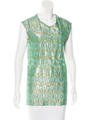Lanvin Brocade Silk Top None