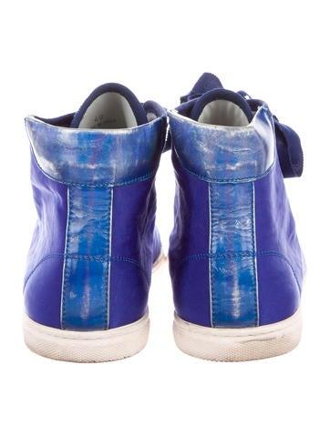 Cap-Toe High-Top Sneakers