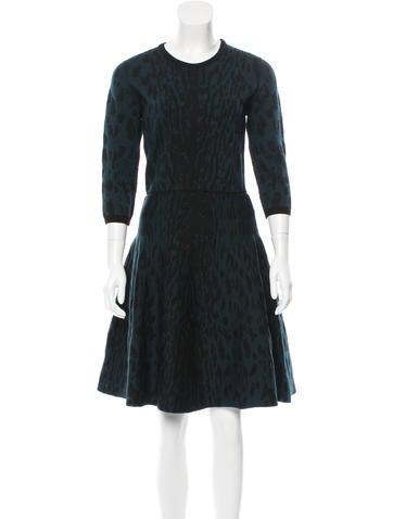 Lanvin Wool Knee-Length Dress w/ Tags