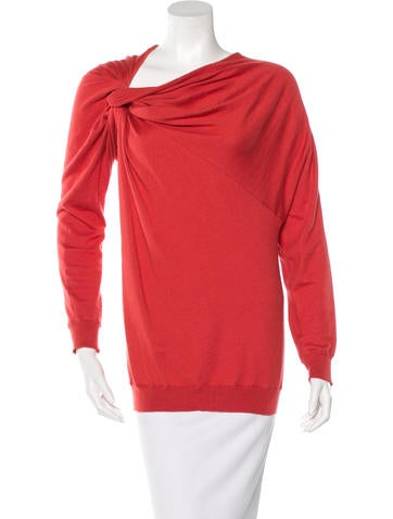 Lanvin Asymmetrical Draped Sweater None