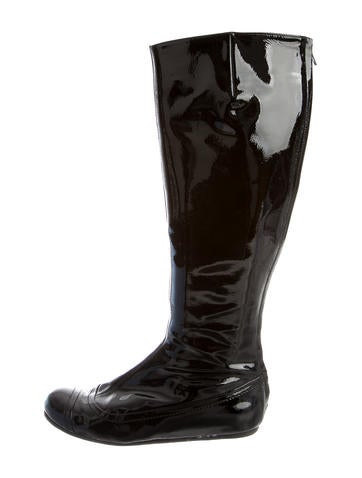 Lanvin Cap-Toe Knee-High Boots