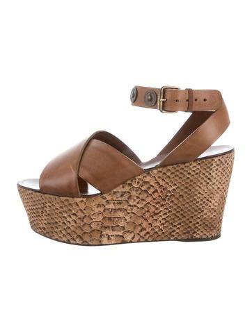 Lanvin Leather Platform Sandals None