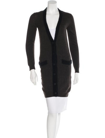 Lanvin Long Sleeve V-Neck Cardigan None
