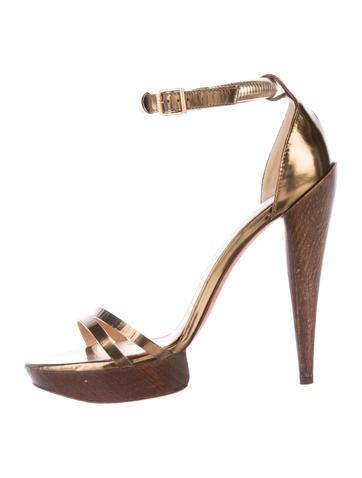 Lanvin Metallic Platform Sandals