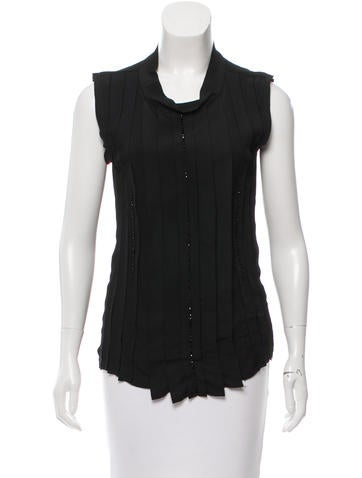 Lanvin Sleeveless Embellished Top None