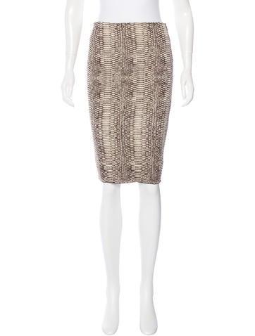 Lanvin Silk Knit Skirt None