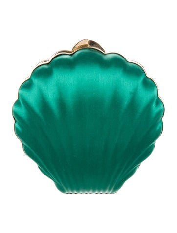 Satin Shell Shape Minaudière
