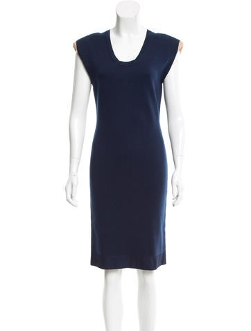 Lanvin Rib Knit Structured Dress None