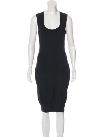 Lanvin Silk Bow-Accented Dress w/ Tags None