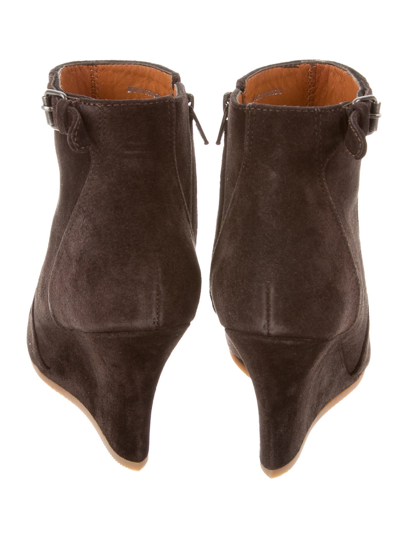 lanvin suede ankle boots shoes lan52927 the realreal