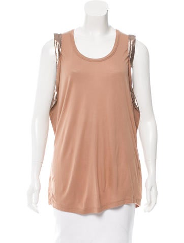 Lanvin Metallic-Accented Sleeveless Top w/ Tags None