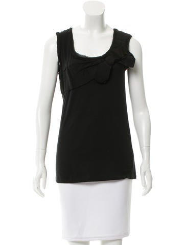 Lanvin Bow-Adorned Sleeveless Top None